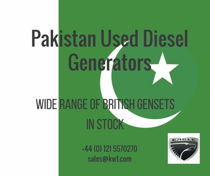 Used Diesel Generators for Pakistan