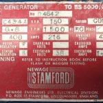150 kVA Volvo Stamford Used Diesel Generator details