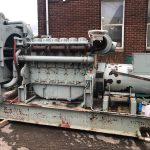 600 kVA Perkins/Marathon Open Type Used Diesel Generator for sale