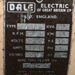 100 kVA Volvo/Stamford Open Type Generator details